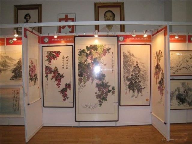 北京八棱柱展板租赁,书画展板租赁
