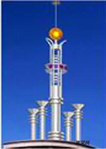 加工制作不锈钢避雷装饰铁塔