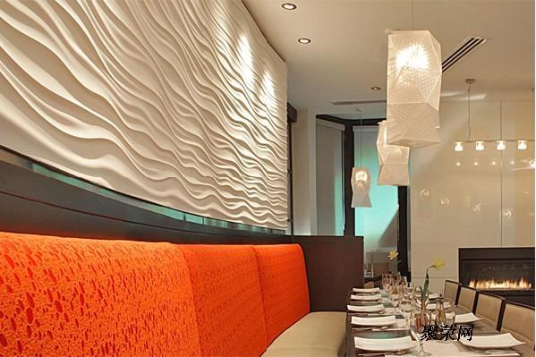 大洋浪造型波浪板背景墙