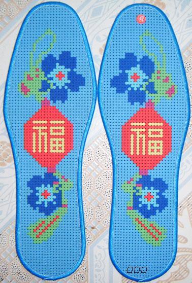 印花十字绣鞋垫图样