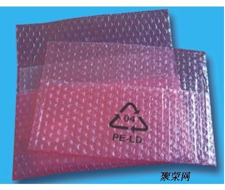 防静电气垫袋,用于包装电子元件,组件,如集成电路板,卡等,既能防止