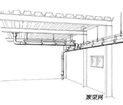 受屋顶结构的限制,如要有效的排水,需增加雨水斗及相应的排水立管