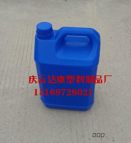 5l蓝色扁方塑料桶5公斤避光化工桶5l塑料桶批发
