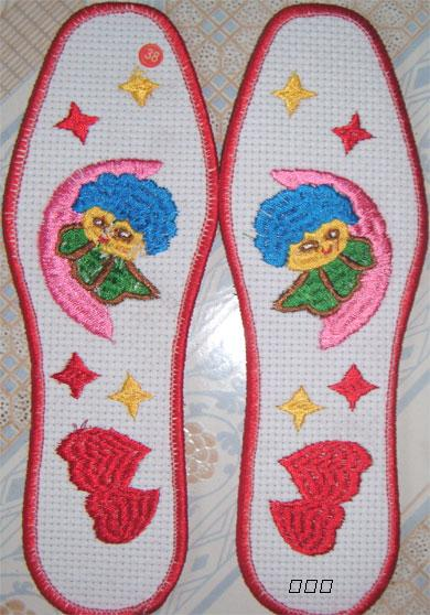 十字绣花鞋垫批发 纯棉精品