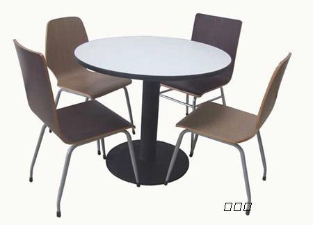 鞍山快餐桌椅,奶茶店餐桌椅,防火板圆桌