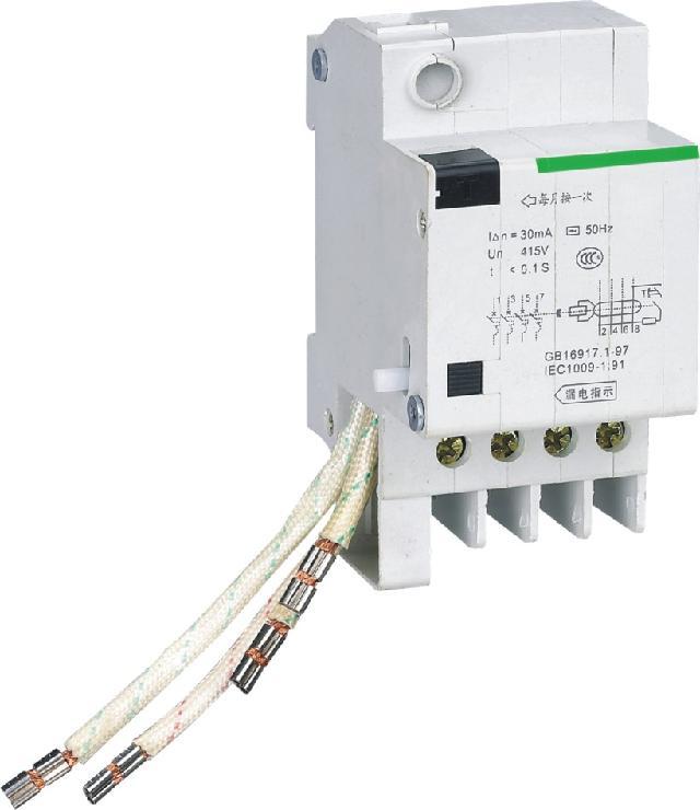 接线:漏电断路器使用时参照表4选取铜导线载面积.