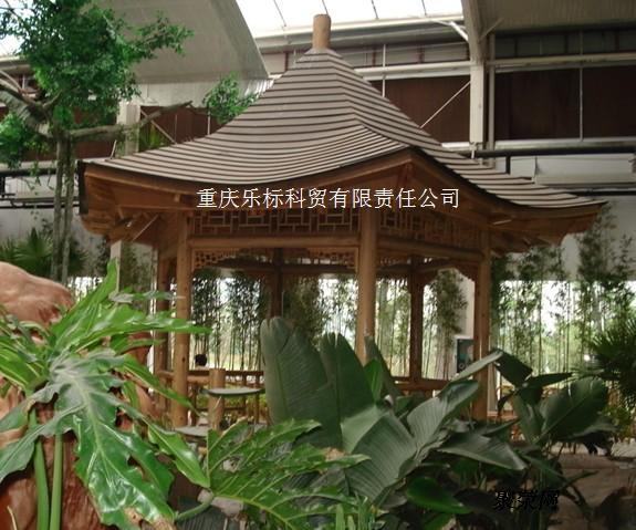 重庆防腐木拱桥 户外实木栏杆定制 防腐木地板 碳化木实木廊道